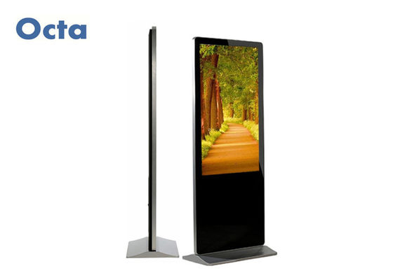 China 55 Inch Indoor Digital Signage Totem Floor Standing 1920 * 1080 HD 6Ms supplier