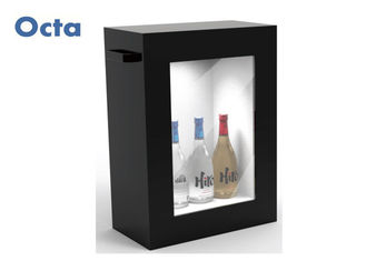 China Commercial Transparent LCD Display Box FHD 6ms Response 110 - 220V supplier