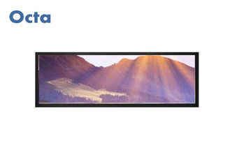 "China 28"" OEM Stretched LCD Display Android TFT Long LCD Bar Display For Subway supplier"