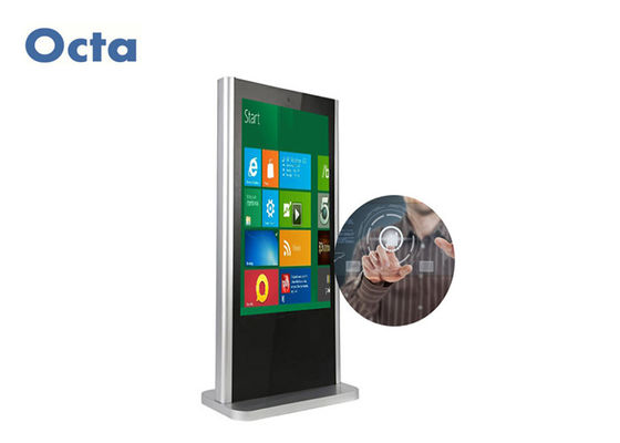 China 65 Inch Touch Screen LCD Display Android Windows Free Standing Digital Signage supplier