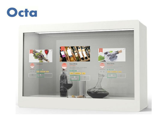 China 32 Inch Transparent LCD Display Frosted Black Acrylic Transparent Display Screen distributor