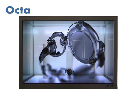 China Vertical Digital Transparent Liquid Crystal Display Showcase With Tempered Glass distributor
