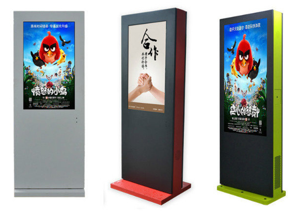 LCD FHD Free Standing Digital Display Sunlight Readable Anti Corrosion